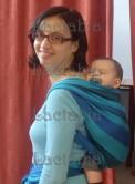 bebé de 6 meses en fular