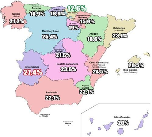 Mapa cesáreas España